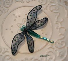 "dragonfly tutorial using Kreinik ""Hot Wire"" by Pat Winter"
