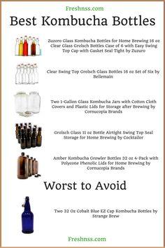 10 Best Kombucha Bottles, Plus 1 to Avoid Buyers Guide) Best Kombucha, Kombucha Bottles, Kombucha Scoby, How To Brew Kombucha, Energy Drink List, Energy Drinks, Fun Drinks Alcohol, Alcoholic Drinks, Kombucha Starter