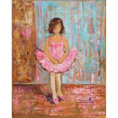 Looking to add a touch of the ballet to your little girl's bedroom? How about a piece of art? A great piece with a sweet ballerina, the entire...
