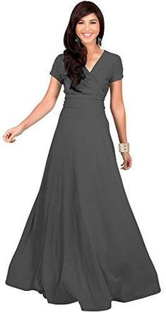 a6c7b22a74 KOH KOH Sexy Cap Short Sleeve V-neck Flowy Cocktail Gown Cocktail Gowns