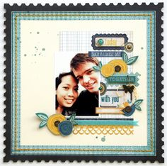 Today .... Scrapbooking Layout Idea