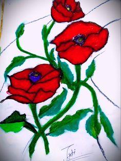 Beautiful Paintings Of Flowers, Rose, Design, Art, Art Background, Pink, Kunst, Performing Arts