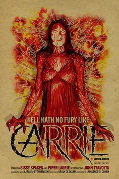 Sissy Spacek Carrie poster. 12x18. Kraft paper. by UncleGertrudes, $22.00
