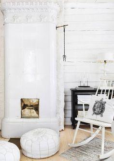 Rahi on monikäyttöinen kaluste. Se käy sekä laskutasoksi, lisäistuimeksi että jalkapalliksi. Katso Unelmien Talo&Kodin ideat. Swedish Cottage, Mantel Ideas, Scandi Style, Fireplace Mantels, Cottage Homes, Malaga, Sweet Home, Shabby Chic, Farmhouse
