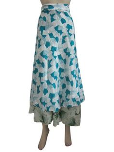 Multi Wear Skirts White Aqua Blue Vintage Silk Sari Reversible Wrap Around Skirt Mogul Interior,http://www.amazon.com/dp/B00FGMEJP4/ref=cm_sw_r_pi_dp_xx5rsb0FVCEQMK6Z