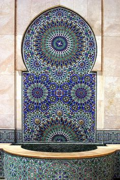 Holy Water Fountain Hassan II Mosque Sour Jdid Casablanca Morocco  Photograph by Ralph A  Ledergerber-Photography