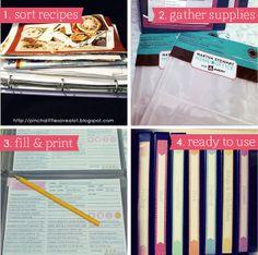 Pinch A Little Save-A-Lot: Recipe Binders & Magnetic Menu Planner - Part 1