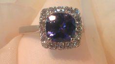 Beautiful 2.03ct Tanzanite and Diamond ring. Custom made. #Parkhouse #bespoke #Tanzanite