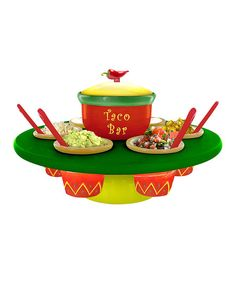 Fiesta Taco Bar Serving Set