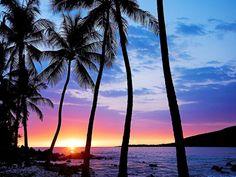 Tropical Sunset, Napoopao, Hawaii photo via google