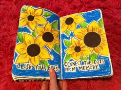 Close your eyes & connect the dots from memory. Liked this page to much to connect the dots. Wreck this journal.