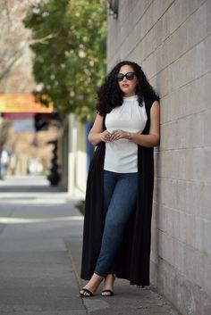 Tanesha Awasthi - Long Black Vest