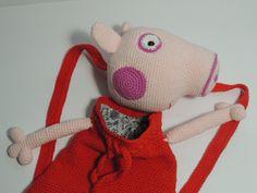 Mochila al crochet del personaje de tv Peppa Pig Peppa Pig s