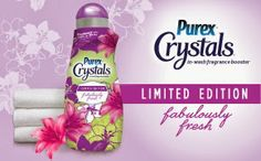Counting down until the end! Hurry and sign up!  Dragonfly Treasure: New Purex® Crystals Limited Edition Fabulously Fresh ~ Review & Giveaway!