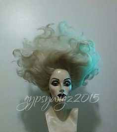 Ursula // Sea Witch // Drag Queen // Show Girl // by GypsyWigz Halloween Costume Ursula, Halloween Makeup, Scary Mermaid, Mermaid Hair, Witch Makeup, Hair Makeup, Ursula Wig, Witch Hair, Drag Wigs