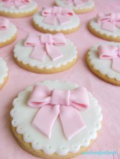 Sweet table ballerina Ribbon cookies