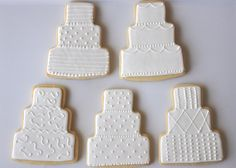 Wedding Cake Cookies 12 by TwoCrazyCookies on Etsy