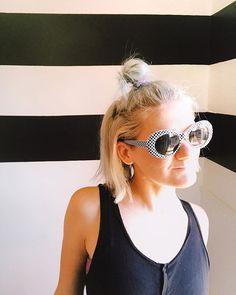 Sometimes you keep it simple. Black tank from and big ol sunnies from binssssss Thrift Store Fashion, Black Tank, Ol, Cat Eye Sunglasses, Sunnies, Thrifting, Vintage Fashion, Simple, Sunglasses