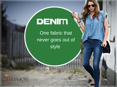 #Denim #Cloth is all you need to #style up! Always stays in style with the Denim fabric because it's one fabric that never goes out of style.