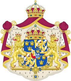 Brasão de armas da Suécia. Coat of arms of Sweden.