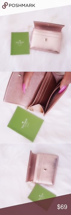 Kate Spade Rose Gold Wallet Brand New Kate Spade Wallet Rose Gold   Please  message me b28f3a5549a91