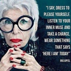 Such a fantastic quote. As we age why shouldn't we be bold and wear what we want? #styleover40 #fitnessover40 #styleover40women #motivate #quotes