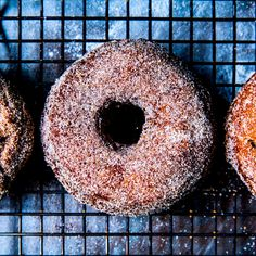 These sugared doughnuts are craggy and crunchy on the outside, tender and moist on the inside. Apple butter (not sauce!) is key to their texture and flavor; look for it alongside jams and jellies in the supermarket, or at farmers' markets, or make your own.
