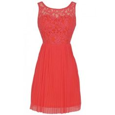 Coral Lace Bridesmaid Dresses Cheap Garden Country Pleated Chiffon Short Bridesmaid Dress