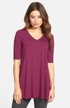 Comfy and cute with leggings. Nice color for fall. Would love it if it were 3/4 sleeves for winter!