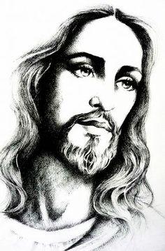 "jesus-christ/jesus-christ-by-mariebouldingue.jpg ""Jesus Christ"" by Marie Bouldingue Jesus Tattoo, Jesus Drawings, Art Drawings, Jesus Christ Drawing, Jesus Christ Painting, Easter Drawings, Pencil Drawings, Christus Tattoo, Jesus Sketch"
