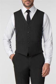 Scott & Taylor | Men's Black Panama 3 Piece Suit | Suit Direct Formal Suits, Men Formal, Fitted Suit, Tailored Suits, Funeral Suit, Black Three Piece Suit, Security Uniforms, Suits Direct, Modern Gentleman