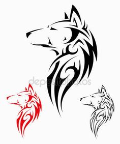 Λήψη - Σχεδια απο διαφορες φυλες λύκος τατουάζ εικονογράφηση — Αρχείο Εικονογράφησης #46231825