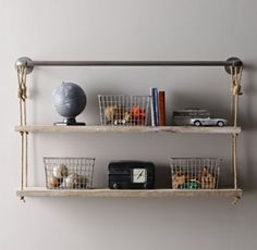 Industrial Pipe Rope Shelf