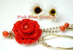 \ PINK ROSE CROCHET /: Flower
