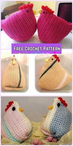 Crochet Chicken Critter Toy Free Patterns