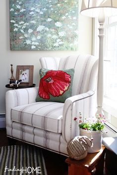 Chair and Pillow Decorating at Finding Home