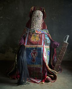 Africa | Voodoo in Bénin, Egungun secret society | © Jean-Claude Moschetti