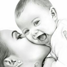 and baby sketch Dope Artz on Mutter und Sohn & # Mother And Baby Paintings, Mother And Child Drawing, Mom Drawing, Mother Art, Drawing For Kids, Drawing Ideas, Drawing Faces, Children Drawing, Drawing Pictures
