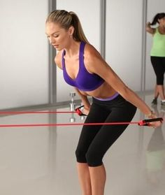 Get lean, toned arms like a supermodel with this resistance-band workout from the Victoria's Secret Train Like an Angel program. This routine was designed by trainer Justin Gelband, who works with models including Candice Swanepoel, Erin Heatherton, and Alessandra Ambrosio. Follow along with this arms workout video and try it yourself at home!