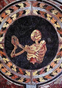 Another Earth mirrormaskcamera: Skeleton Mosaic by Gianlorenzo Bernini, circa Church of Santa Maria della Vittoria, Rome. Memento Mori, Art Du Temps, Another Earth, D Avila, Arte Horror, Chapelle, Skull And Bones, Dark Art, Archaeology