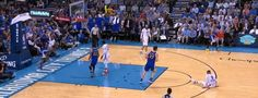Steph Curry, Klay Thompson demolish Westbrook and Thunder | OKLAHOMA | March 20, 2017  Kevin Durant sat on the bench as Warriors stretched their win streak to four games with 111-95 victory over OKC on Monday. Klay Thompson and Stephen Curry combined for a scintillating shooting display, leading all scorers with 34 and 23 points. Splash Brothers notched seven three-pointers each marking the third time in their careers that they've done so in the same game. Golden State improves to 56-14.