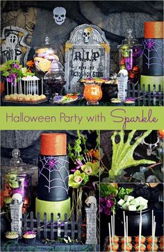 Halloween Party Decorations with Sparkle - Spaceships and Laser Beams