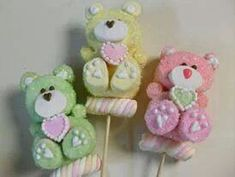 Decorated Marshmallows, Cute Marshmallows, Decorated Cookies, Party Treats, Holiday Treats, Colorful Baby Showers, Marshmallow Cupcakes, Candy Kabobs, Teddy Bear Cakes