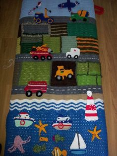 #crochet vehicles blanket