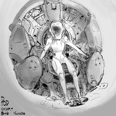 Extracurricular activities: A design for the Pod cockpit #conceptart #bh6 #illustration