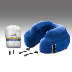 Evolution Pillow - Memory Foam Travel Neck Pillow - Cabeau Blue