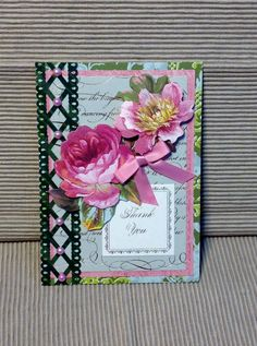 Anna Griffin Thank You Card with Flowers by MyPrettyPaperGifts, $6.00