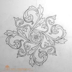Baroque mandala by LucianoPezzoli on DeviantArt – Deanna M. Leather Tooling Patterns, Leather Pattern, Mandala Design, Mandala Art, Motif Baroque, Baroque Design, Motif Arabesque, Molduras Vintage, Wood Carving Designs