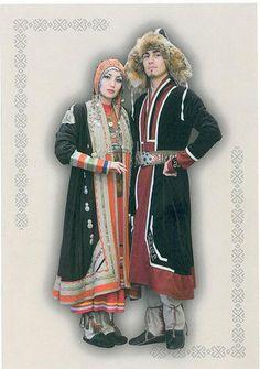 FolkCostume&Embroidery: Overview of the Folk Costumes of Europe Folk Clothing, Historical Clothing, Folk Fashion, Ethnic Fashion, Turkish Fashion, Russian Folk, Folk Costume, Samara, Central Asia