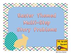 Here's a set of twelve Easter themed multi-step story problems along with a recording sheet and answer key. Math Stations, Math Centers, Elementary Math, Upper Elementary, Math Magic, Recording Sheets, 4th Grade Math, Lent, Small Groups